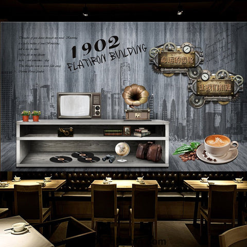 Image of Coffee shop Wallpaper Coffee Club Cafe Wall Murals IDCWP-CF-000007