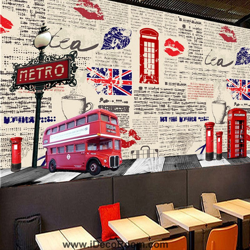 Coffee shop Wallpaper Coffee Club Cafe Wall Murals IDCWP-CF-000008