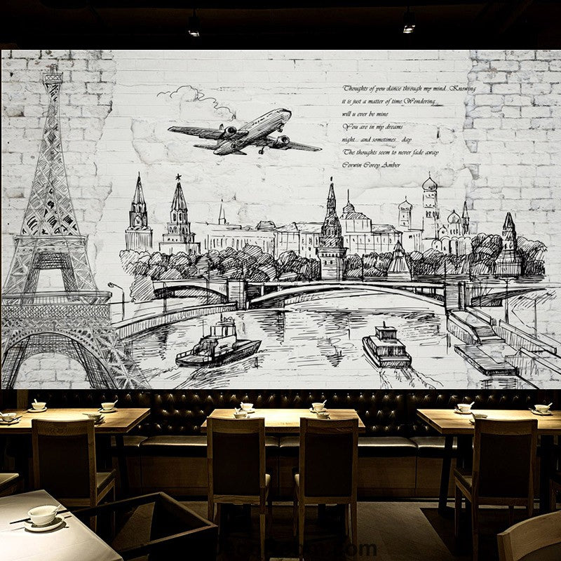 Coffee shop Wallpaper Coffee Club Cafe Wall Murals IDCWP-CF-000010
