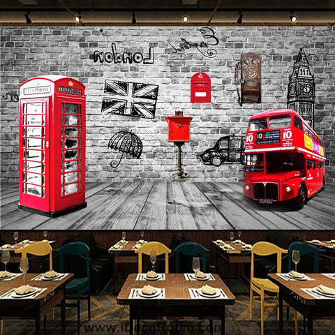 Image of Coffee shop Wallpaper Coffee Club Cafe Wall Murals IDCWP-CF-000012