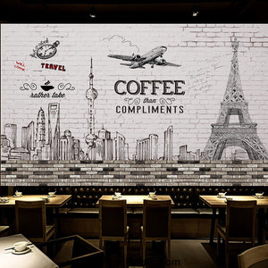 Coffee shop Wallpaper Coffee Club Cafe Wall Murals IDCWP-CF-000013