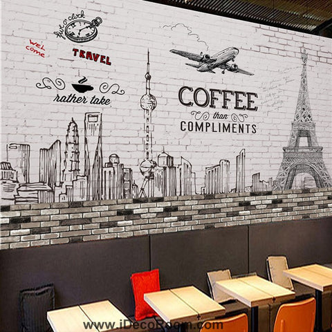 Image of Coffee shop Wallpaper Coffee Club Cafe Wall Murals IDCWP-CF-000013