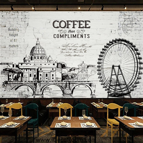 Coffee shop Wallpaper Coffee Club Cafe Wall Murals IDCWP-CF-000017