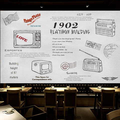 Image of Coffee shop Wallpaper Coffee Club Cafe Wall Murals IDCWP-CF-000027