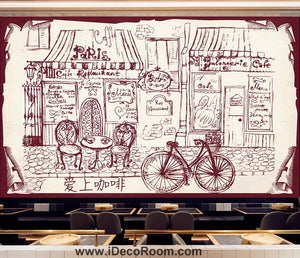 Coffee shop Wallpaper Coffee Club Cafe Wall Murals IDCWP-CF-000030