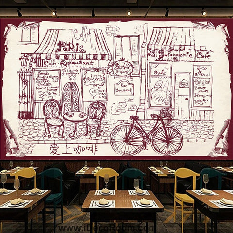 Image of Coffee shop Wallpaper Coffee Club Cafe Wall Murals IDCWP-CF-000030