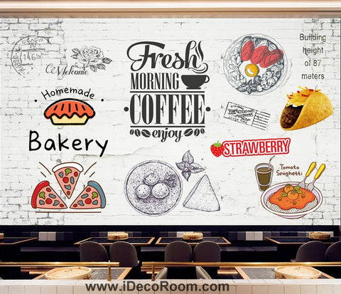 Image of Coffee shop Wallpaper Coffee Club Cafe Wall Murals IDCWP-CF-000043