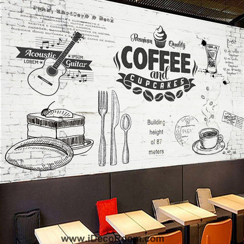 Image of Coffee shop Wallpaper Coffee Club Cafe Wall Murals IDCWP-CF-000045