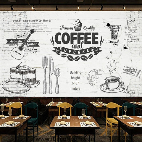 Coffee shop Wallpaper Coffee Club Cafe Wall Murals IDCWP-CF-000045