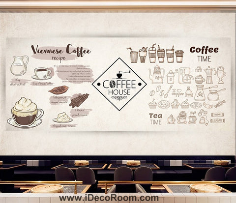 Coffee shop Wallpaper Coffee Club Cafe Wall Murals IDCWP-CF-000046