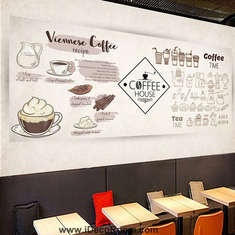 Image of Coffee shop Wallpaper Coffee Club Cafe Wall Murals IDCWP-CF-000046