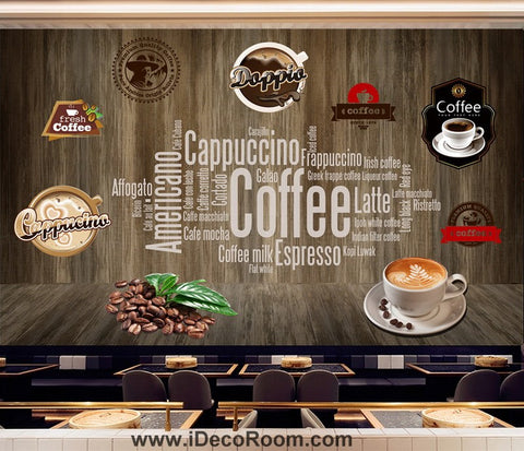 Coffee shop Wallpaper Coffee Club Cafe Wall Murals IDCWP-CF-000049