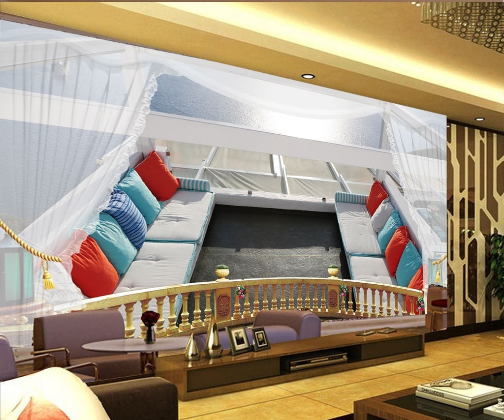 3D sightseeing balcony Wallpaper IDCWP-DZ-000026