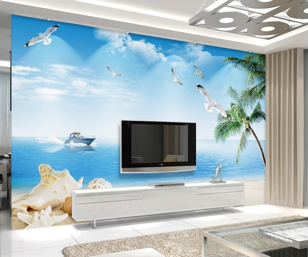 3d seaside scenery wallpaper idcwp-dz-000039 – idecoroom