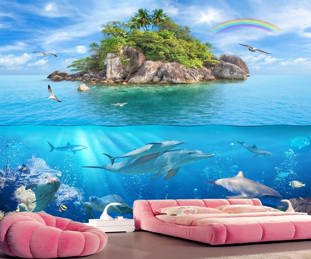 HD 3D Sea Water Cut Landscape 3D Wallpaper IDCWP-DZ-000188