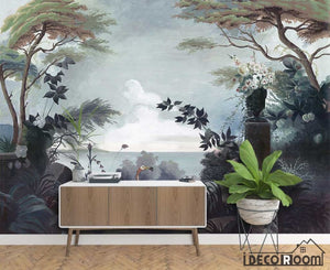 411X285cm European  retro retro garden rainforest wallpaper wall murals IDCWP-HL-000004