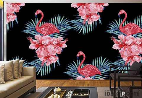 Image of Modern Art  Red Flamingo Creative wallpaper wall murals IDCWP-HL-000046