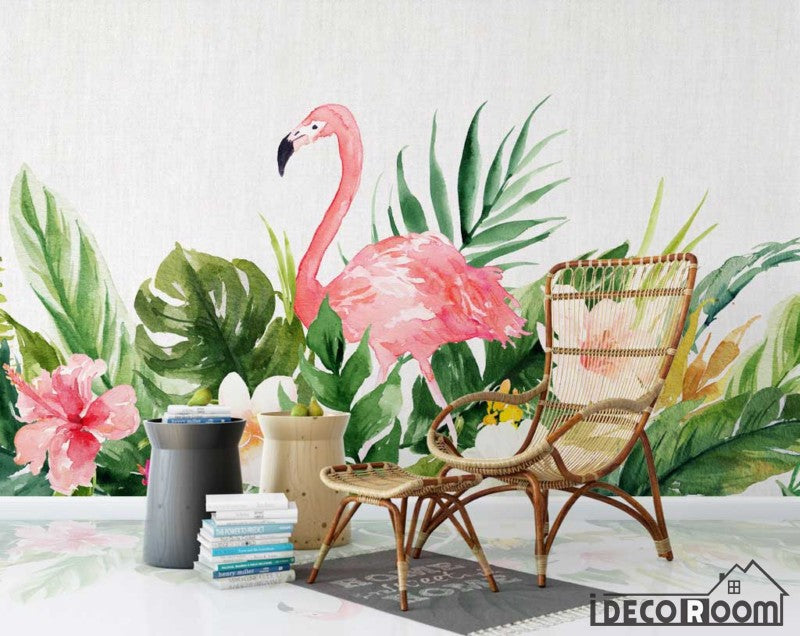 fashion flamingo Nordic minimalist wallpaper wall murals IDCWP-HL-000121