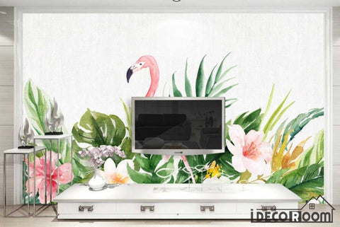 Image of fashion flamingo Nordic minimalist wallpaper wall murals IDCWP-HL-000121