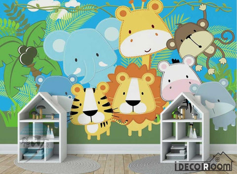 Image of Cute Cartoon Animal wallpaper wall murals IDCWP-HL-000172