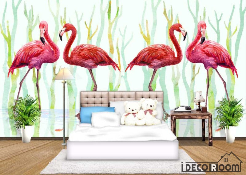 Flamingo wallpaper wall murals IDCWP-HL-000209