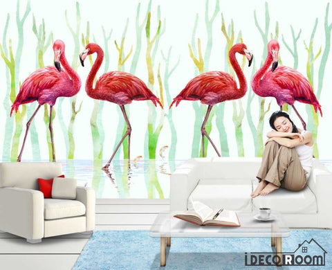 Image of Flamingo wallpaper wall murals IDCWP-HL-000209