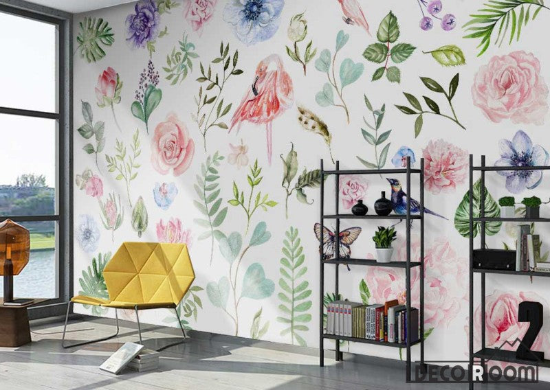 American pastoral plant flower simple wallpaper wall murals IDCWP-HL-000342
