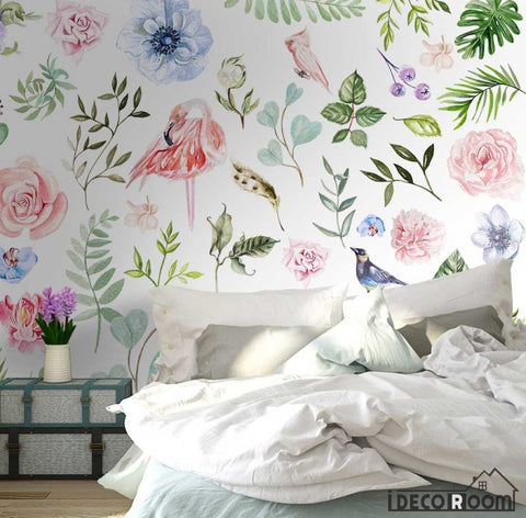 Image of American pastoral plant flower simple wallpaper wall murals IDCWP-HL-000342