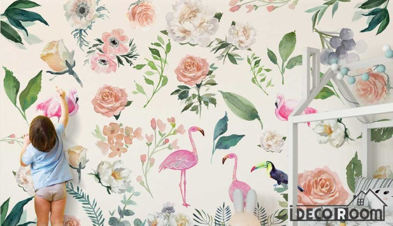 American pastoral plant flower simple wallpaper wall murals IDCWP-HL-000348