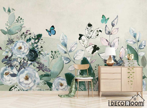 Image of Modern minimalist  rose floral wallpaper wall murals IDCWP-HL-000368
