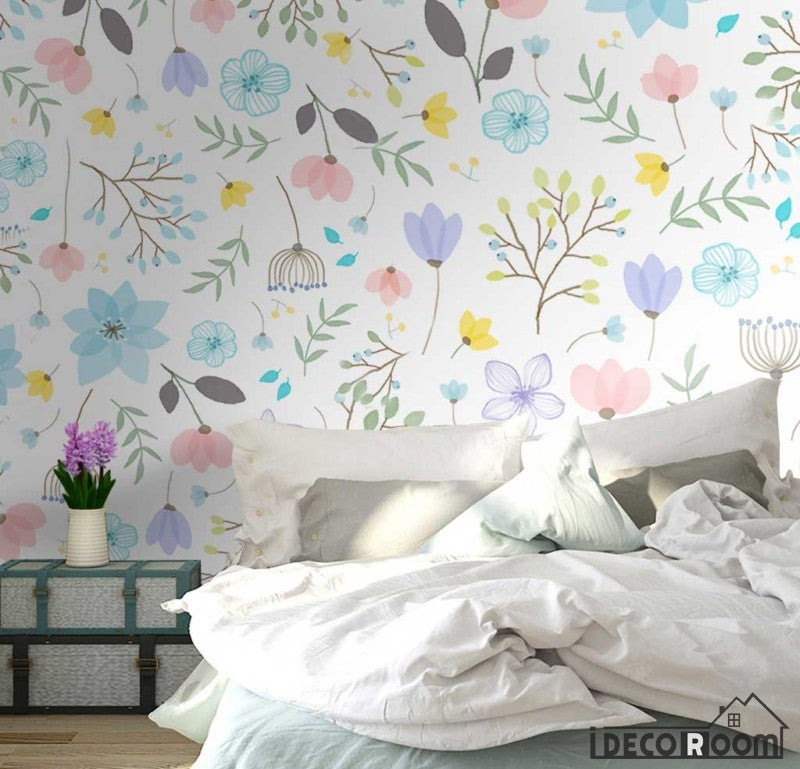 American pastoral plant flower simple wallpaper wall murals IDCWP-HL-000370