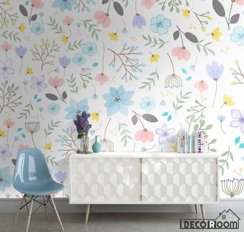 Image of American pastoral plant flower simple wallpaper wall murals IDCWP-HL-000370