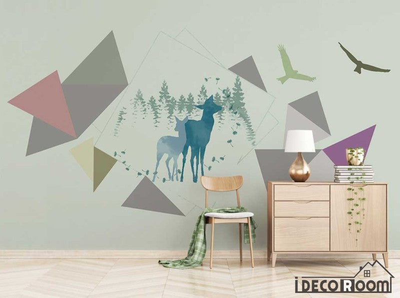 Nordic modern minimalist abstract geometric wallpaper wall murals IDCWP-HL-000465