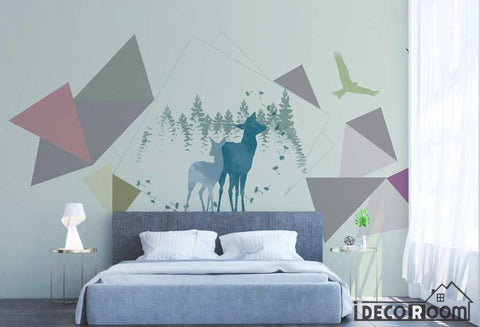 Image of Nordic modern minimalist abstract geometric wallpaper wall murals IDCWP-HL-000465