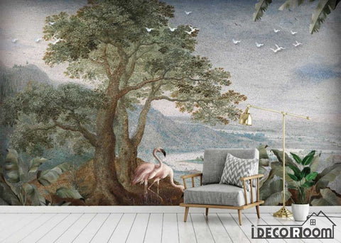 European retro oil painting landscape abstract wallpaper wall murals IDCWP-HL-000495