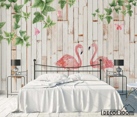 Image of Modern minimalist  watercolor flamingo wallpaper wall murals IDCWP-HL-000501