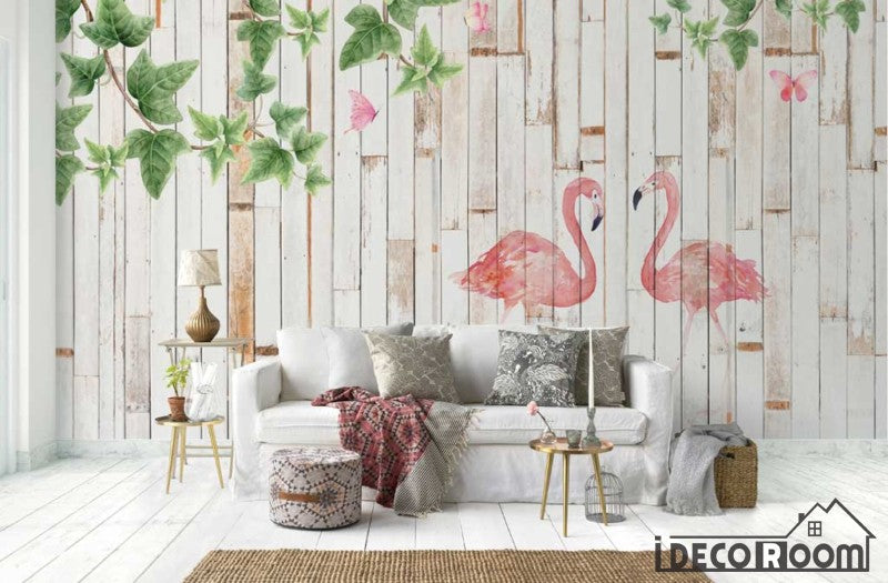 Modern minimalist  watercolor flamingo wallpaper wall murals IDCWP-HL-000501