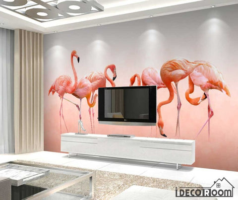 Image of Modern minimalist  Flamingo Nordic wallpaper wall murals IDCWP-HL-000555