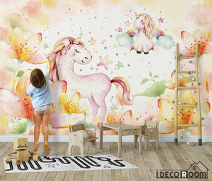 Nordic minimalist fantasy pony wallpaper wall murals IDCWP-HL-000594