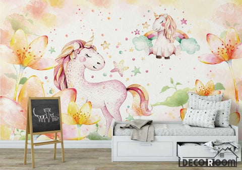 Image of Nordic minimalist fantasy pony wallpaper wall murals IDCWP-HL-000594