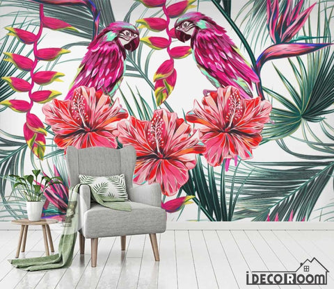 Image of Flowers plant tropical rainforest wallpaper wall murals IDCWP-HL-000616