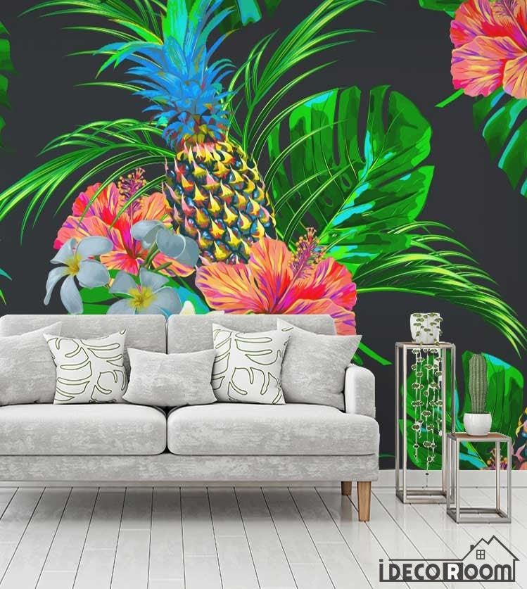 Flower bird plant vector wallpaper wall murals IDCWP-HL-000635