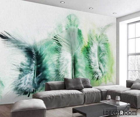 Image of Modern minimalist abstract feather Nordic wallpaper wall murals IDCWP-HL-000650