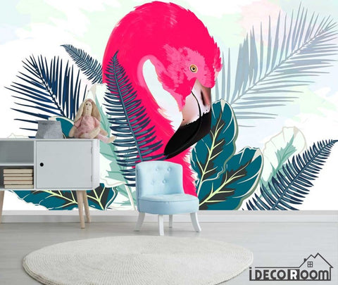 Image of Modern minimalist  Flamingo Nordic wallpaper wall murals IDCWP-HL-000656