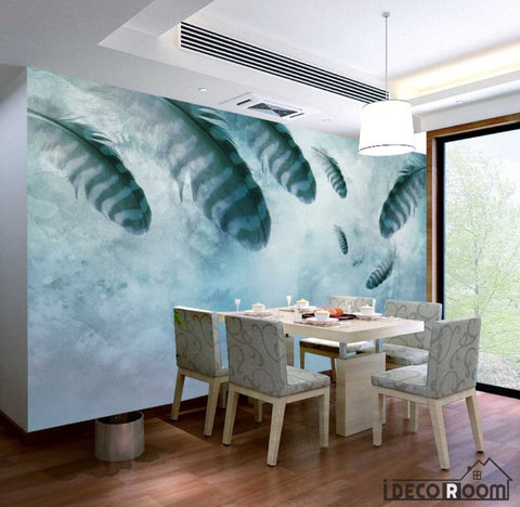 modern minimalist  feathers Nordic wallpaper wall muralss IDCWP-HL-000660