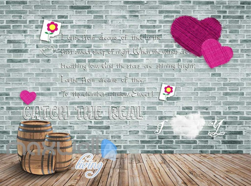 Poem Warmth Wall Cute Flower Art Wall Murals Wallpaper Decals Prints Decor IDCWP-JB-000029