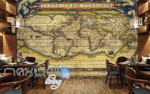 Image of Old Map Latin World Design Art Wall Murals Wallpaper Decals Prints Decor IDCWP-JB-000051