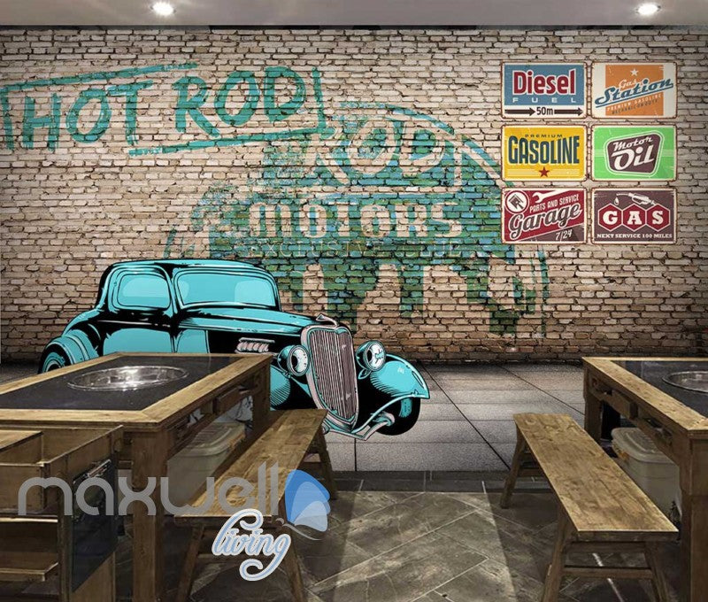 classic style car wall garage display art wall murals wallpapertap to expand