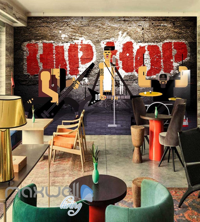 Animated Band Hiphop Wall Cartoon Art Wall Murals Wallpaper Decals Prints Decor IDCWP-JB-000062