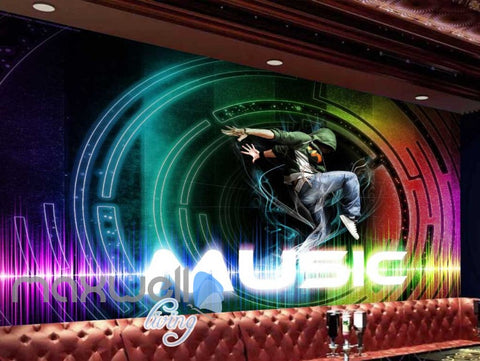 Image of Bright Colour Music Party Sound Design Art Wall Murals Wallpaper Decals Prints Decor IDCWP-JB-000066